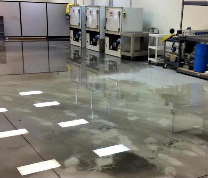 Commercial Water Damage – Fort Myers Warehouse Before