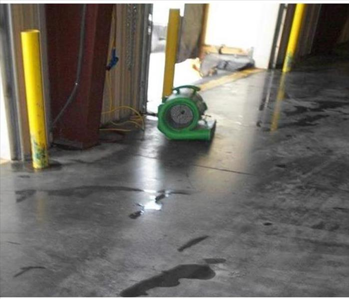 Storm Water Intrusion in a Pine Island Warehouse