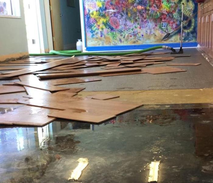 Water damage at Naples Preschool of the Arts