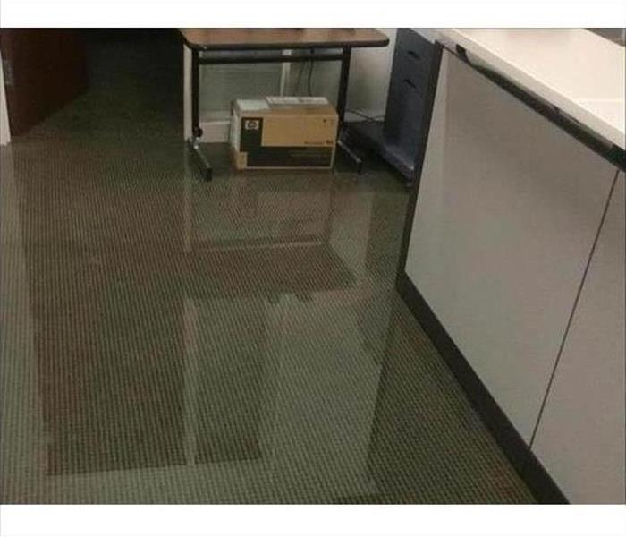 Reception area flooded