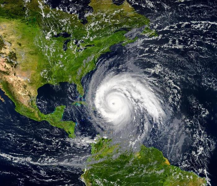 Satellite view of hurricane of Florida